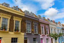 Colorful Row Houses In Camden,...