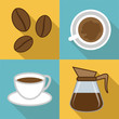 Coffee Icons Represents Restaurant And Cafeteria Beverages