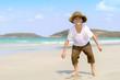 boy on tropical beach