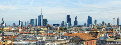 Spoed Foto op Canvas Milan Milan new city view from above