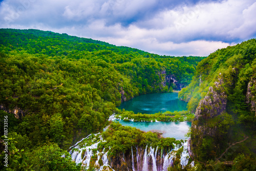 Fototapety, obrazy: Beautiful nature from Plitvice lake in Croatia.