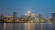 Canary Wharf by night , London