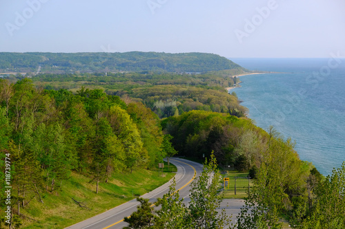 Scenic Lake Michigan overlook Canvas Print