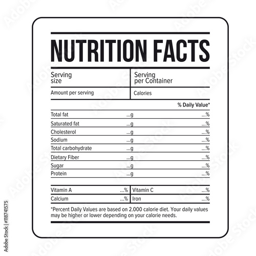 nutrition facts label template vector buy this stock vector and