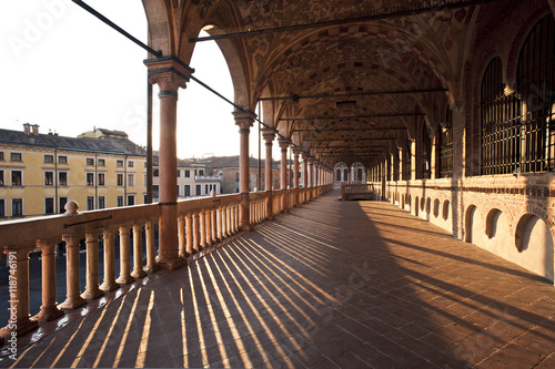 Photo The loggia of the palace della Ragione, the ancient seat of the courts citizens of Padua
