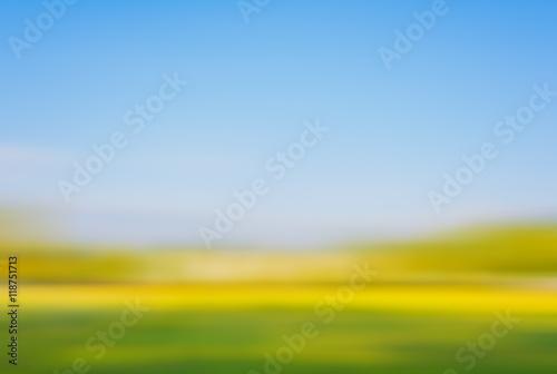 Foto auf Leinwand Melone blur grass field