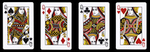 4 Queens In A Row - Playing Ca...