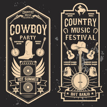 Country Music Festival Flyer.