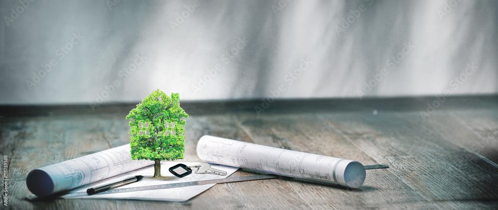 Fototapeta real estate,projet immobilier