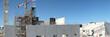 Panorama chantier en construction béton