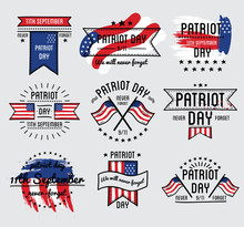 Patriot Day Vector Set. September 11