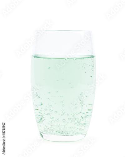 Papiers peints Eau Tall glass of lemonade isolated