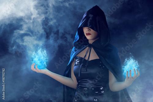 Fotografie, Obraz  Beauty asian witch woman