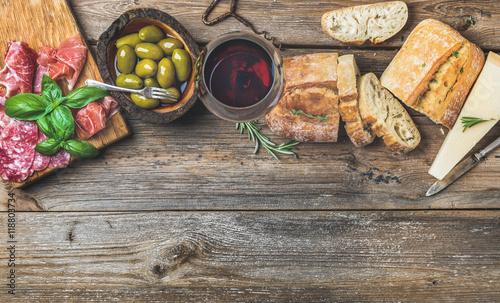 Photo  Wine snack set