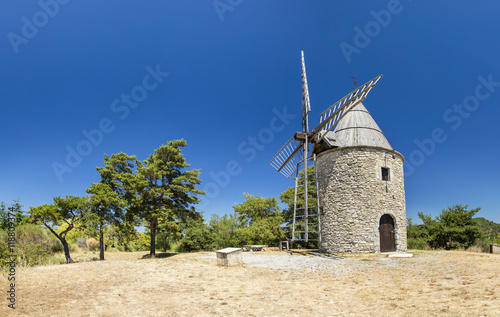 Poster Molens old mill with blue sky in France