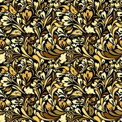Fototapeta Art Nouveau Floral Seamless Background