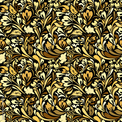 Fotografía  Art Nouveau Floral Seamless Background