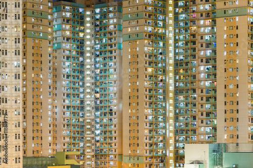 Apartment building in Hong Kong Poster