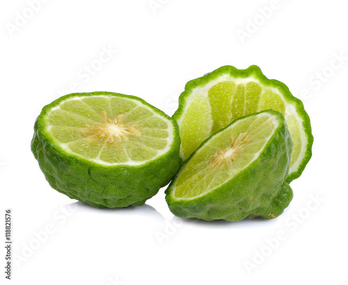 Naklejka na szybę Bergamot isolated white background.