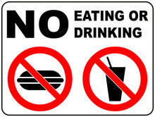 Prohibition Signs For Eating A...