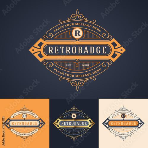 Elegant Ornate Luxury Badge Label Or Logo Template In Different