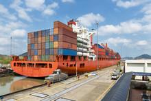 Cargo Ship In The Miraflores L...