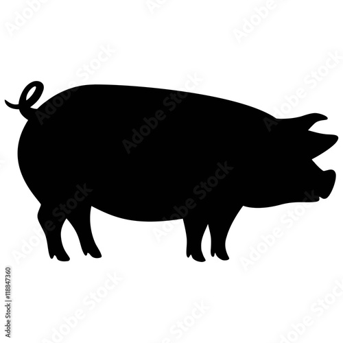 pig silhouette buy this stock vector and explore similar vectors rh stock adobe com Pig Silhouette Clip Art BBQ Pig Silhouette Clip Art