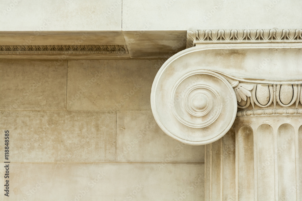 Fototapety, obrazy: Decorative detail of an ancient Ionic column