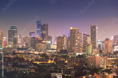 Photo  Bangkok city at twilight