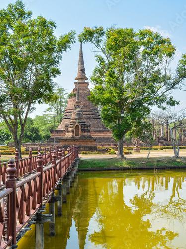 Obraz na plátně Wat Sra Sri - Sukhothai, Thailand