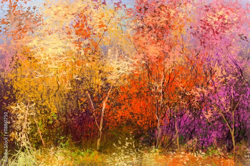 obraz-olejny-krajobraz-kolorowe-jesienne-drzewa-semi-abstrakcyjny-obraz-lasu-drzewa-z-zoltym-czerwony-lisc-jesien-jesien-natura-tlo-recznie-malowany-styl-impresjonistyczny