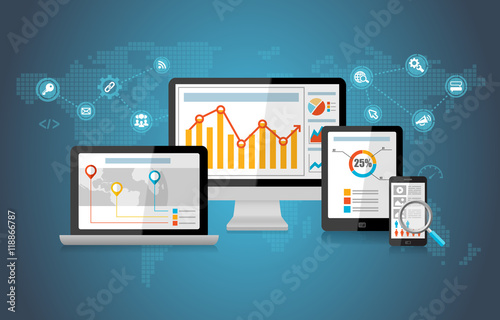 Photo  SEO Search Engine Optimization Marketing Concept Infographic
