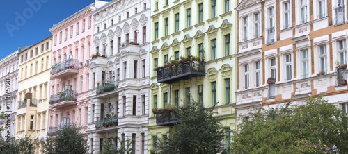 Foto auf Gartenposter Berlin Façades d'immeubles / Berlin (Allemagne)