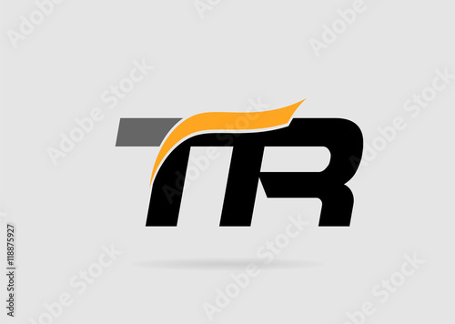 Letter T And R Logo Template