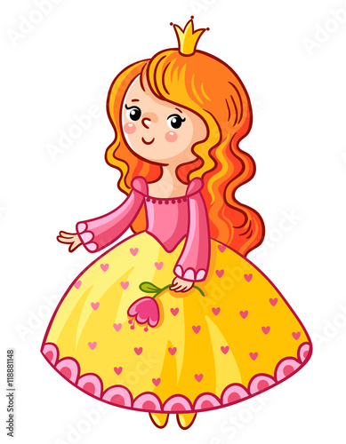 Cute Princess Stand On A White Background Girl With A Crown And A Flower In Her Huge collection, amazing choice, 100+ million high quality, affordable rf and rm images. cute princess stand on a white