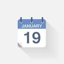 19 January Calendar Icon