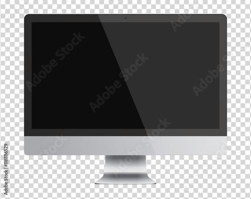 Fotografie, Obraz  Modern computer monitor display with black screen.