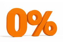 Orange 3d 0 % Percent Text On White Background For Autumn Sale Campaigns. See Whole Set For Other Numbers.