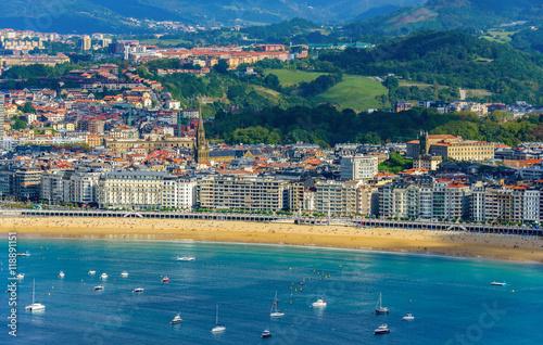 Fototapeta premium San Sebastian w Hiszpanii