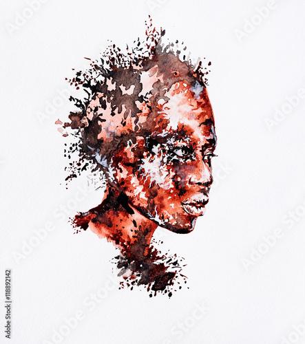 akwarela-streszczenie-portret