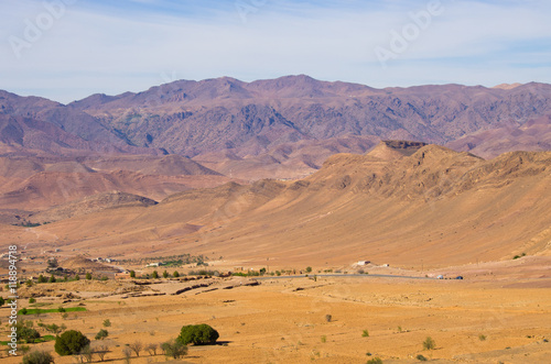 Aluminium Prints Salmon Dry hills of Morocco