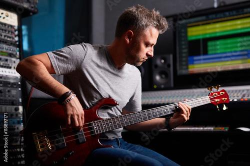 Fotomural Musician in studio
