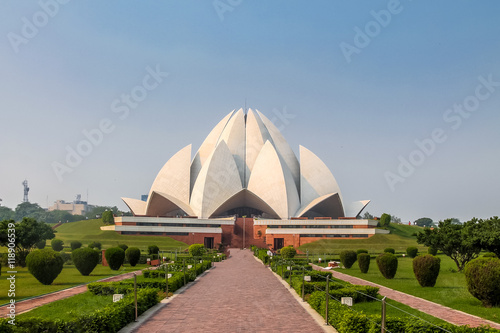 Papiers peints Fleur de lotus Bahai Lotus Temple - New Delhi, India