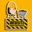 woman website under construction avatar vector illustration design