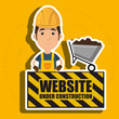 man website under construction avatar vector illustration design