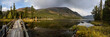 Pano of Rakhmanovskoe lake in East Kazakhstan, Altai mountains