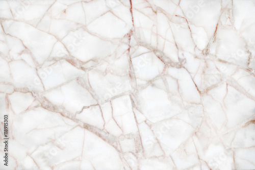 Fototapeta white marble with brown veins texture abstract background patter obraz na płótnie