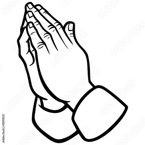 Fotografie, Obraz  Praying Hands Illustration