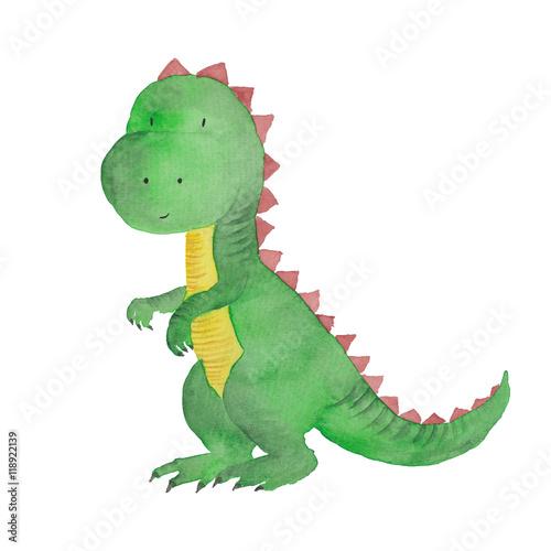 dinozaur-akwarele-recznie-malowane-ilustracji-pojedyncze-dzieci-dziecko-dino-ma