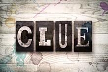 Clue Concept Metal Letterpress...